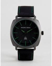 Racing Green - Black Watch With Green Markings - Lyst