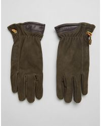 Timberland - Nubuck Boot Leather Glove In Brown - Lyst