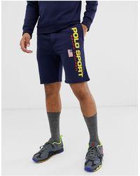Polo Ralph Lauren Sport Capsule - Pantaloncini della tuta rétro blu navy con logo