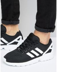 c54224f0c adidas Originals - Zx Flux Em Sneakers In Black - Lyst