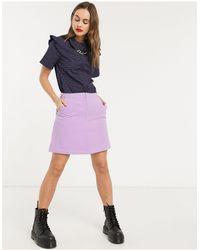 Résumé Minifalda lila Nadeen - Morado