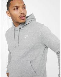 Nike – Club – er Kapuzenpullover - Grau