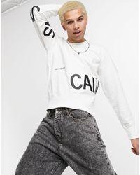 Calvin Klein Sweatshirt Met Stretch En Logo - Wit
