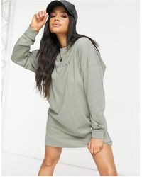 The Couture Club Archive - Robe t-shirt oversize à manches longues - Vert