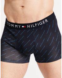 Tommy Hilfiger - – Unterhose mit All-over-Logoprint und Flaggenlogo am Bund - Lyst