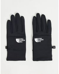 The North Face Etip Recycled White Logo Glove - Black