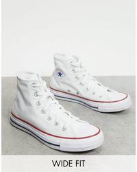 Converse - Белые Высокие Кеды Для Широкой Стопы Chuck Taylor All Star-белый - Lyst
