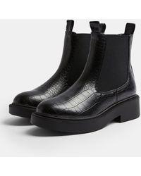TOPSHOP Chunky Chelsea Boot - Black