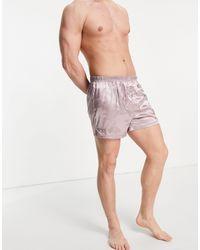ASOS Атласные Боксеры Розовато-лилового Цвета - Пурпурный