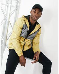 Threadbare Зеленовато-желтая Куртка С Капюшоном И Серой Вставкой -коричневый Цвет