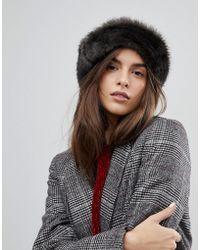 Brixton - Hat With Faux Fur Trim - Lyst