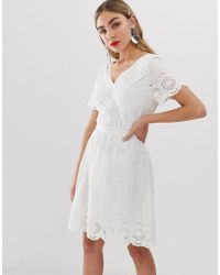 ONLY Broderie Anglais Mini Dress - White