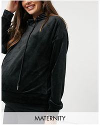 Lindex Mom Taylor Recycled Poly Velour Hoodie - Black