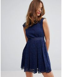 Sisley Lace Dress - Blue