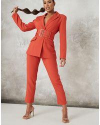 Missguided Co-ord Belted Blazer - Orange