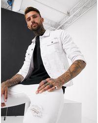 Liquor N Poker Белая Джинсовая Куртка -белый