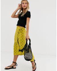 Miss Selfridge Wrap Skirt - Yellow