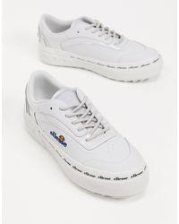Ellesse Alzina Flatform Chunky Sneakers - Gray