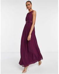 Little Mistress Насыщенно-фиолетовое Шифоновое Платье Макси -фиолетовый Цвет - Пурпурный