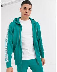 Benetton Tracksuit Jacket With Logo Taping - Green