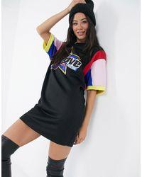 Love Moschino Vestito T-shirt colorblock nero