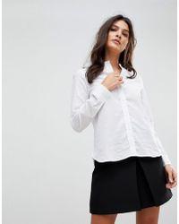 Vero Moda - Grandad Collar Shirt - Lyst