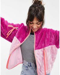 UGG Розовая Многоцветная Куртка Из Плюша Marlene-розовый Цвет