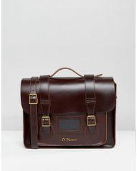 Dr. Martens 15 Inch Leather Satchel - Brown
