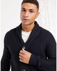 French Connection Wool Blend Chunky Cardigan - Blue