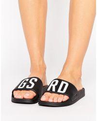 G-Star RAW Cart Grsd Slide Flat Sandals - Black
