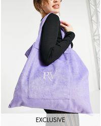 Reclaimed (vintage) Inspired Logo Tote Bag - Purple