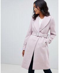 Lipsy - Coat With Shawl Collar - Lyst