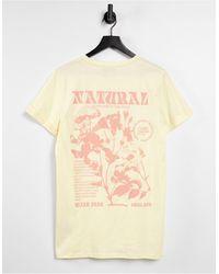 Sixth June T-shirt à imprimé Natural au dos - Beige - Neutre