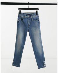 Salsa High Waisted Secret Glamour Shaping Jeans - Blue