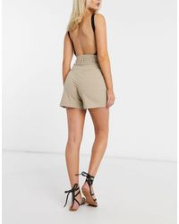 Y.A.S Tailored Shorts With Belted Waist - Natural
