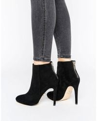 Lipsy | Zip Back Ankle Boot | Lyst