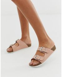 8c2f0af2f72df6 London Rebel - Double Buckle Flat Sandals - Lyst