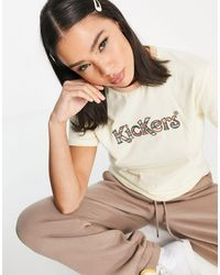 Kickers Relaxed T-shirt With Retro Stripe Front Logo - Multicolour
