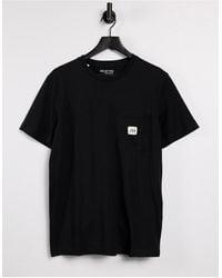 SELECTED T-shirt With Logo Pocket - Black