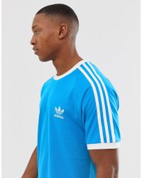 adidas Originals California T Shirt In Blue BR4177