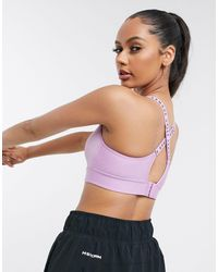Under Armour Infinity Mid Support Crossback Bra - Purple