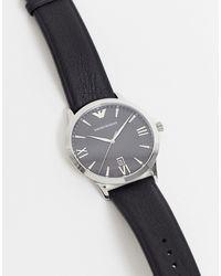 Emporio Armani Часы С Кожаным Ремешком Giovanni Ar11210-черный Цвет