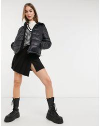 New Look Reversible Teddy Borg Puffer - Black