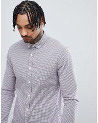 ASOS - Design Smart Skinny Cvc Check Shirt - Lyst