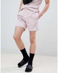 Hackett - Mr. Classic Swim Shorts In Pink - Lyst