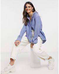 Weekday - Синяя Рубашка Навыпуск Из Органического Хлопка Betsey-синий - Lyst