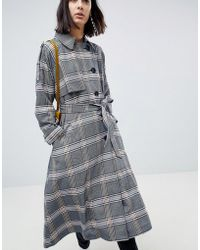 ASOS - Trench In Check - Lyst