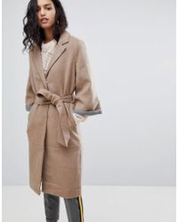 Y.A.S - Abbey Wool Blend Belted Duster Coat - Lyst