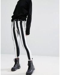 Motel - Skinny Jeans In Monochrome Stripe - Lyst