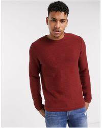Produkt Organic Knitted Textured Jumper-brown
